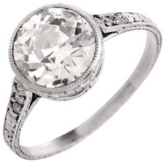 1930s Antique Diamond Platinum Engagement Ring