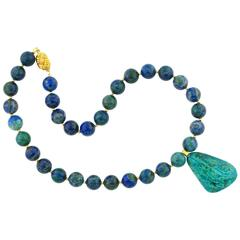 Azurite and Chrysocolla Necklace
