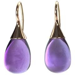 Goshwara Naughty Amethyst Rose Gold Drop Earrings