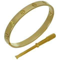 Cartier Love Yellow Gold Bracelet Box Papers