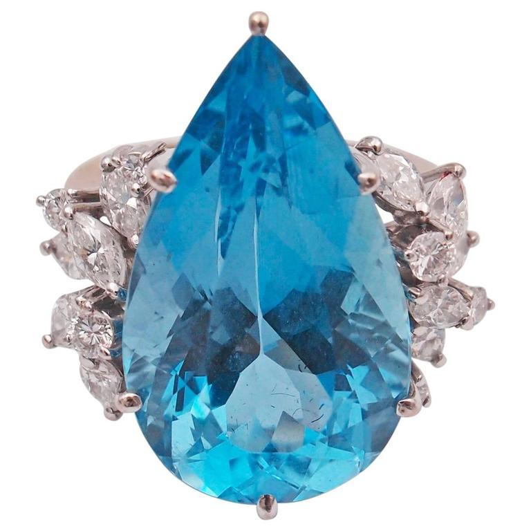 Santa maria aquamarine diamond ring for sale at 1stdibs for Santa maria jewelry company
