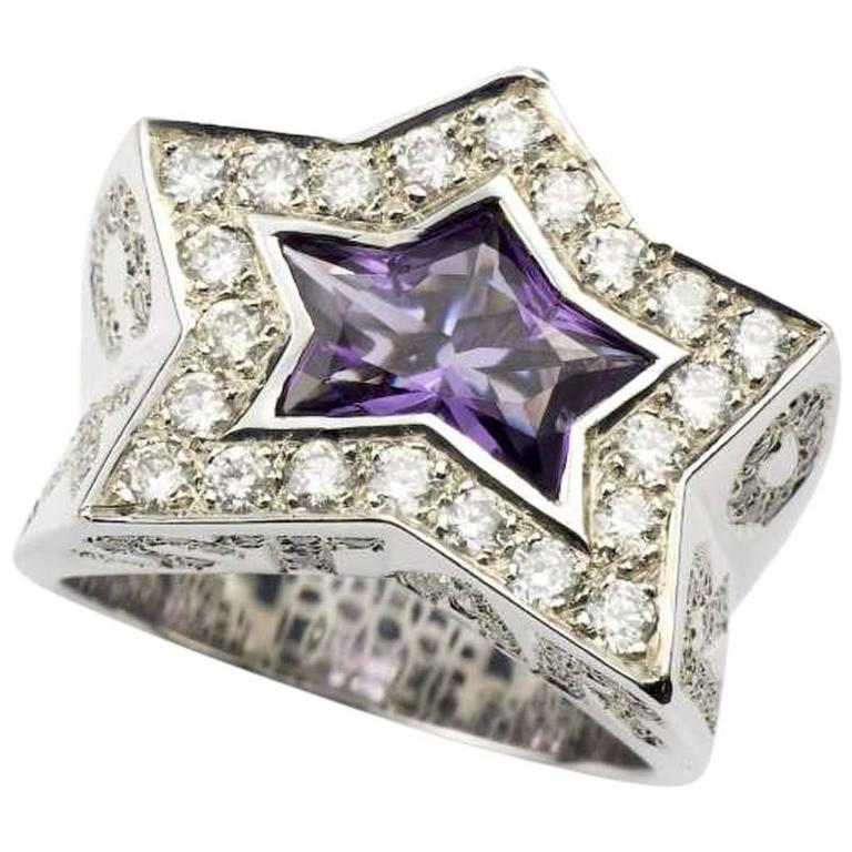 Rock star diamond amethyst ring for sale at 1stdibs for Rock star photos for sale