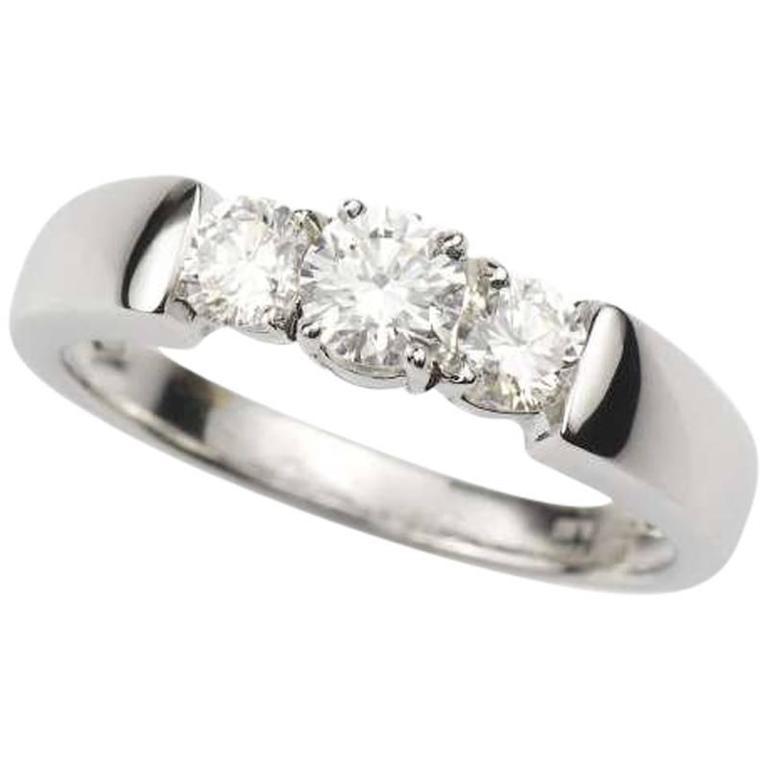 Diamond Trilogy Ring 0.68 Carat