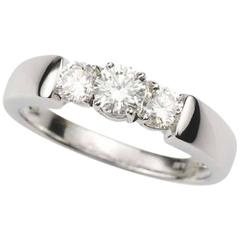 Diamond Trilogy Ring 0.68 Carat