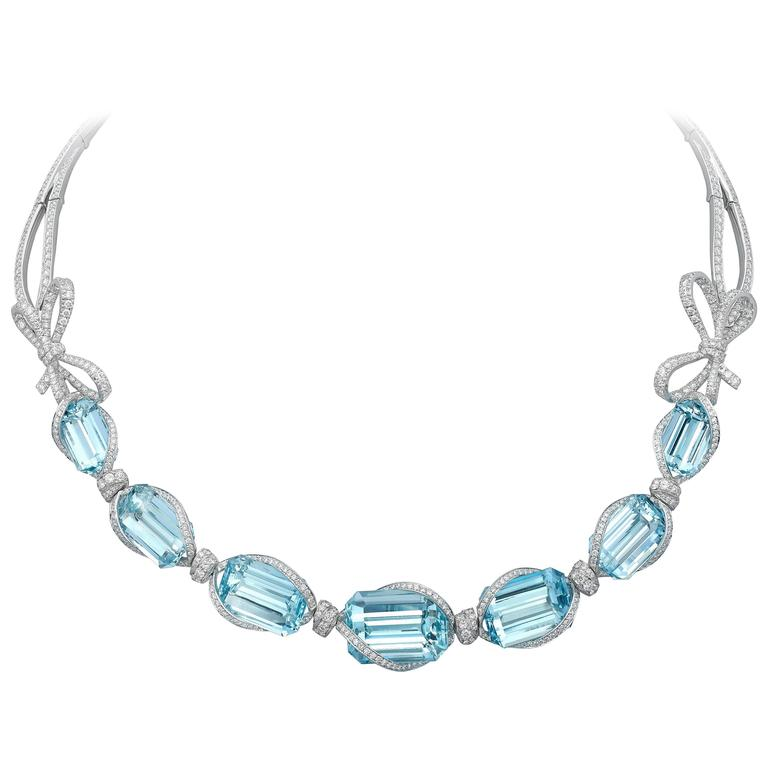 oval rhodium aqua necklace sterling aquamarine silver marine diamond aquama plated