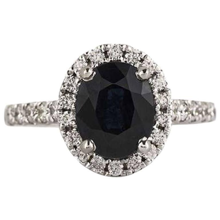 Sapphire and Diamond Ring 1.75 Carat
