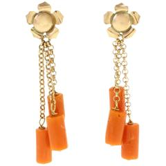 Luise Gold Coral Earring