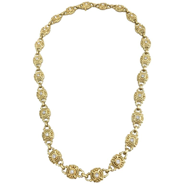 Judith Ripka Diamond Gold Necklace