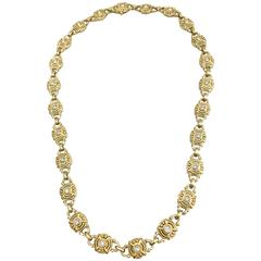 Judith Ripka Diamond Gold Necklace