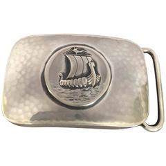 "Georg Jensen ""Viking Ship"" Belt Buckle No. 59B, Very Rare"