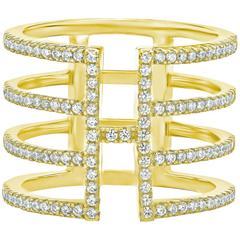 Gorgeous Trendy Diamond Gold Cocktail Ring