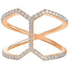 Modern Diamond Gold Ring