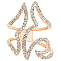 Breathtaking Diamond Gold Cocktail Ring