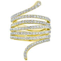 2.60 Carat Fancy Diamond Serpent Ring