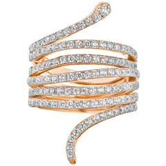 Gorgeous Diamond Rose Gold Ring