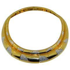 Diamond Gold Platinum Collar Necklace