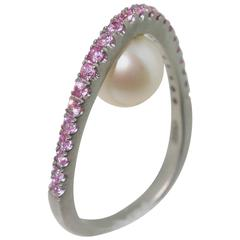Uniquely Beautiful Pearl Pink Sapphire Statement Ring