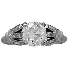 Art Deco 1.05 Carat Diamond Platinum Engagement Ring