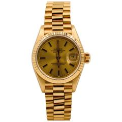 Rolex Ladies Yellow Gold Datejust President Automatic Wristwatch Ref 69178