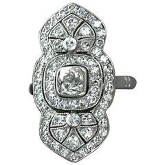 Indian Inspiration Diamond Platinum Ring