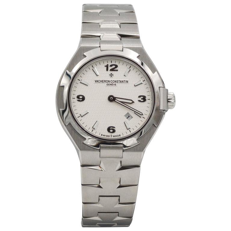Vacheron Constantin Ladies Stainless Steel Overseas Quartz Wristwatch