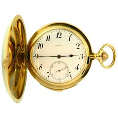 Longines Yellow Gold Westminster Chime Carillon Minute Repeating Pocket Watch
