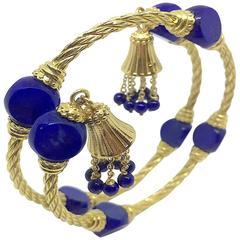 Carlo Weingrill Lapis Lazuli Gold Bracelet