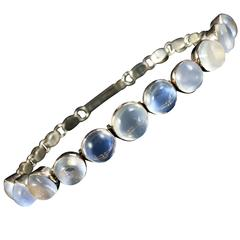 Antique Victorian 9 Carat Gold Moonstone Bracelet
