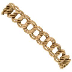 Tiffany & Co. Gold Textured Links Bracelet