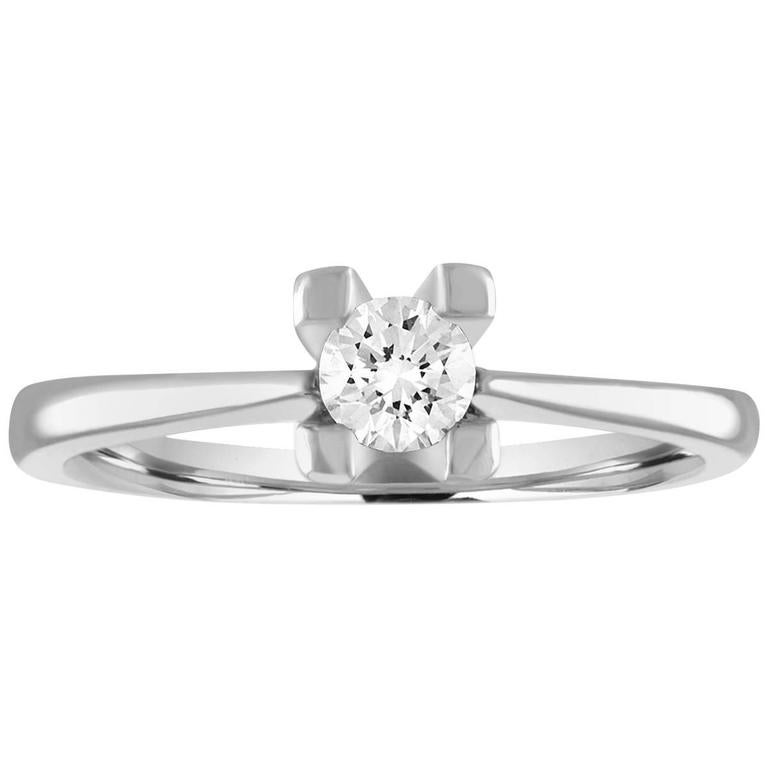0.27 Carat Diamond Gold Solitaire Engagement Ring