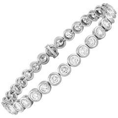 10.00 Carat Diamond Bezel Gold Tennis Bracelet