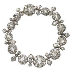 Antique Diamond Cluster Bracelet