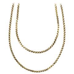 Vintage, 18ct Gold, Loop in Loop, Long Chain