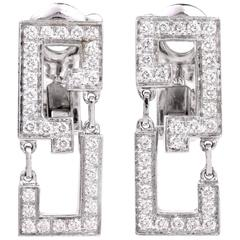 Cartier Le Baiser du Dragon Diamond Gold Earrings