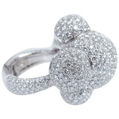 Palmiero Bubbles Diamond White Gold Ring