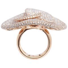 Palmiero Sombrero Diamond Rose Gold Ring