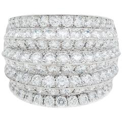 Van Cleef & Arpels Diamond White Gold Cocktail Ring