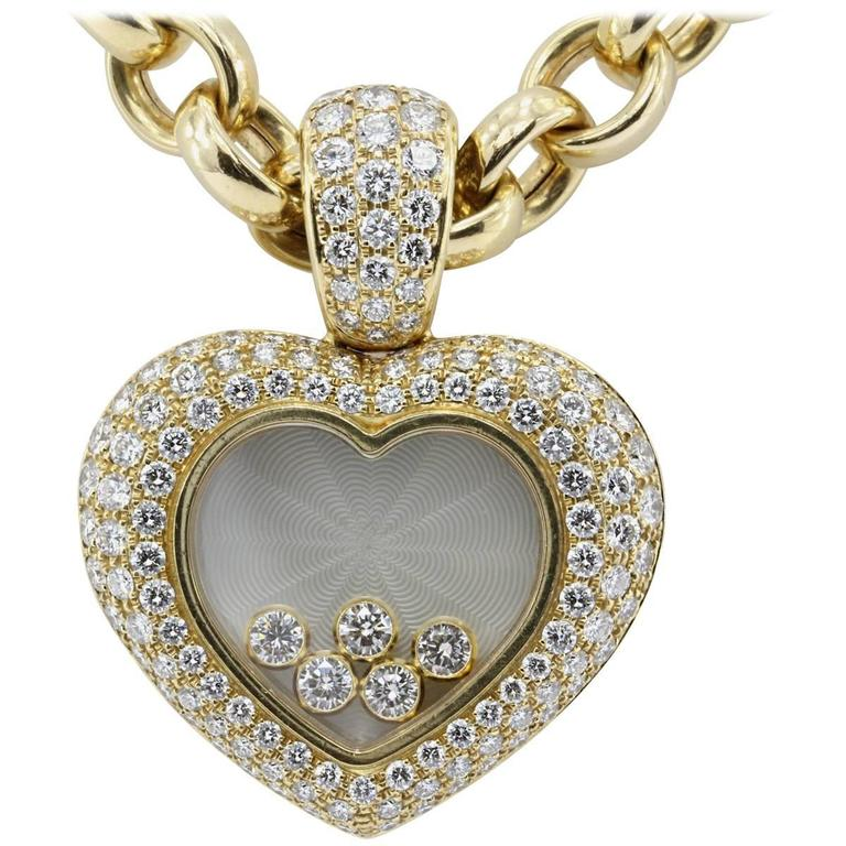 Rare Chopard Happy Diamond Heart Necklace 1