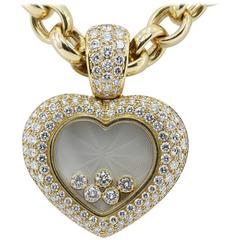 Rare Chopard Happy Diamond Heart Necklace