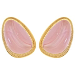Burle Marx Forma Livre Rose Quartz Earrings