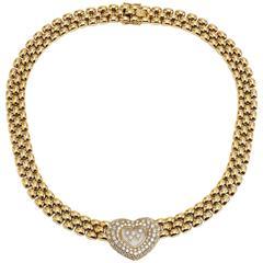 Chopard Happy Diamond Gold Heart Necklace
