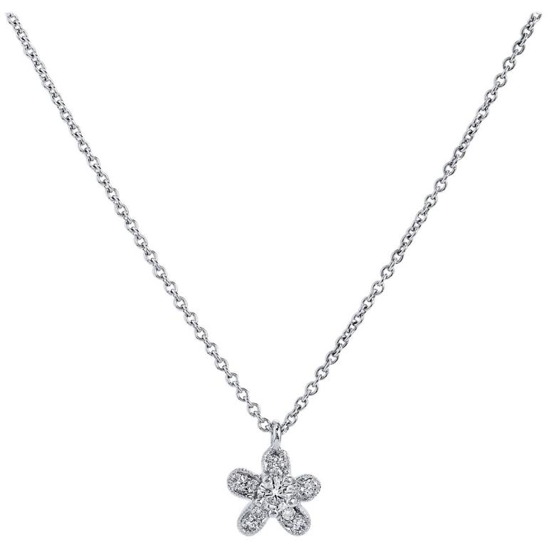 H & H Flower Charm Necklace