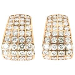 Elegant Diamond Yellow Gold Earrings