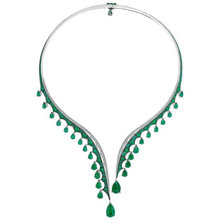 Vanleles Diamond Gemfield Emerald Legends of Africa Necklace 2