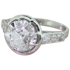 Retro 1.06 Carat Old Cushion Cut Diamond Engagement Ring