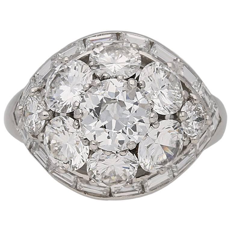 1963 Van Cleef & Arpels Diamond Bombé Ring