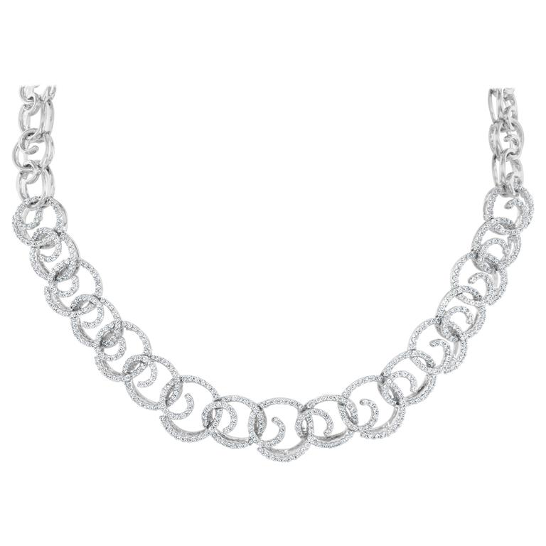 7.15 Carat Round Brilliant Cut Diamond 18 Karat Gold Necklace
