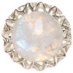 Fouché Moonstone Silver Ring, Made to Order