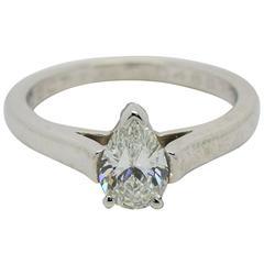 Tiffany & Co. Pear Shape Diamond Platinum Engagement Ring