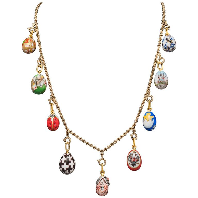 Dacha Easter Egg Necklace by Marie E. Betteley